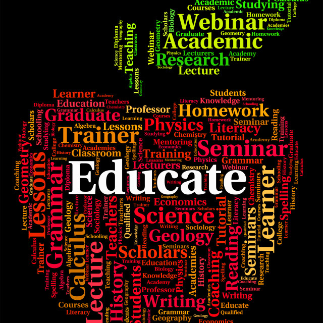 """Educate Word Means Develop Studying And Schooling"" stock image"