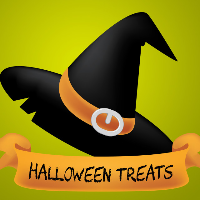 """""""Halloween Treats Indicates Candies Horror And Ghost"""" stock image"""