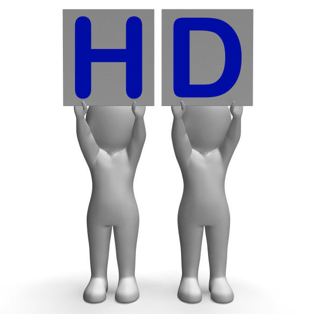 """HD Banners Mean High Definition Television Or High Resolution"" stock image"
