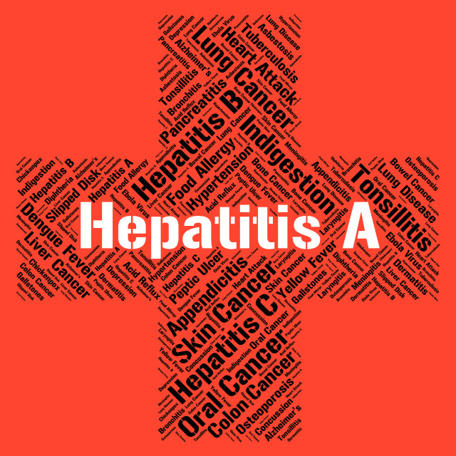 """""""Hepatitis A Indicates Ill Health And Affliction"""" stock image"""