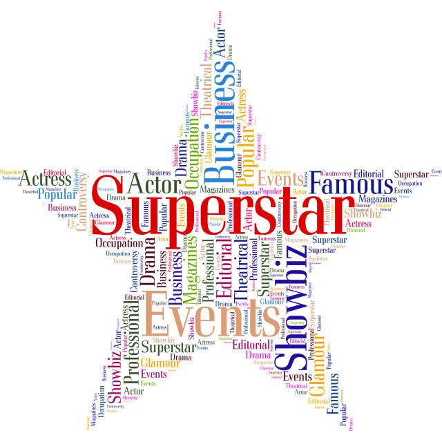 """""""Superstar Word Means Hot Shot And Hero"""" stock image"""