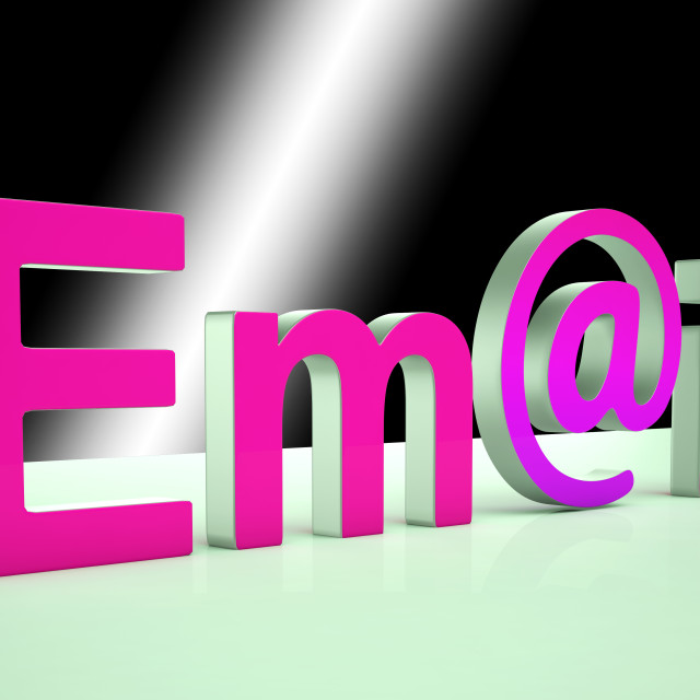 """""""E-mail Letters Shows Online Mailing And Messaging"""" stock image"""