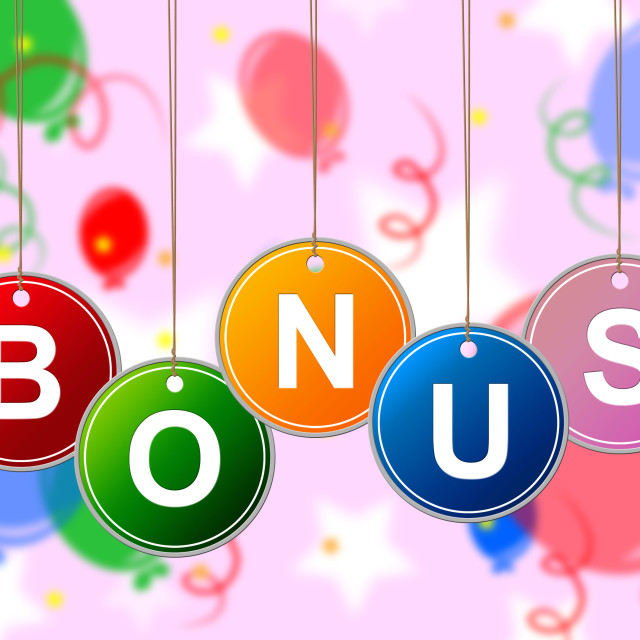 """Reward Bonus Represents For Free And Bundle"" stock image"