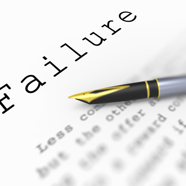 """""""Failure Word Shows Unsuccessful Deficient Or Underachieving"""" stock image"""