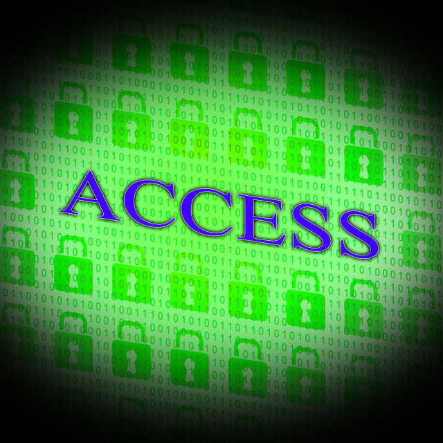 """Security Access Represents Protect Encrypt And Accessible"" stock image"