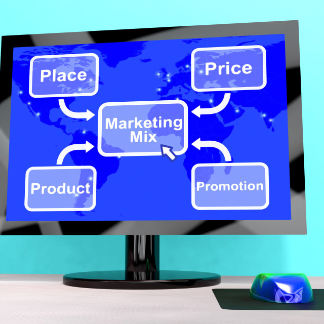 """Marketing Mix With Price Product And Promotion"" stock image"