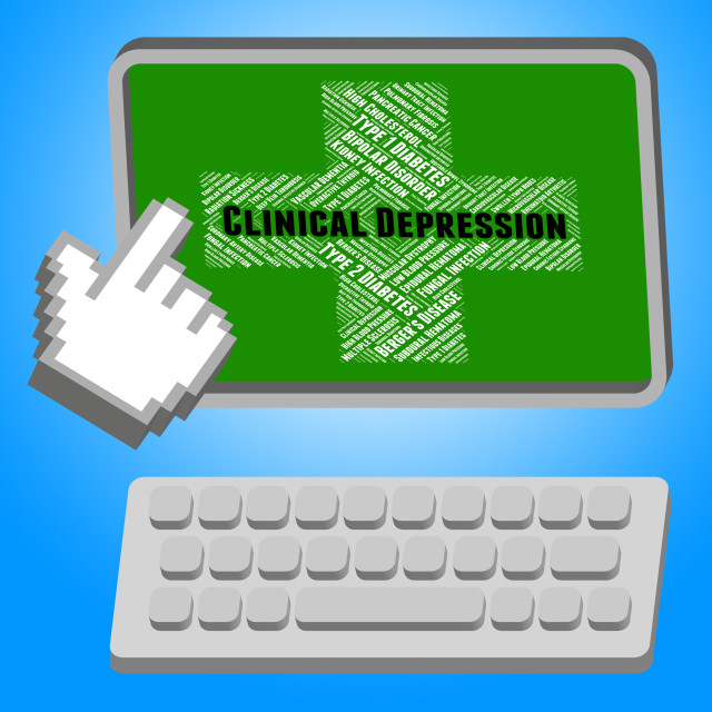 """""""Clinical Depression Means Crack Up And Anxiety"""" stock image"""