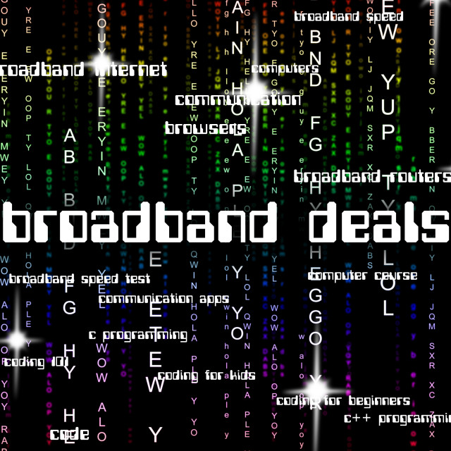 """Broadband Deals Shows World Wide Web And Communicate"" stock image"