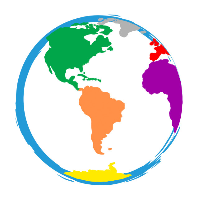 """Globe World Means Globalisation Globalise And Colour"" stock image"