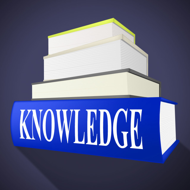 """""""Knowledge Book Means Textbook Understanding And Books"""" stock image"""