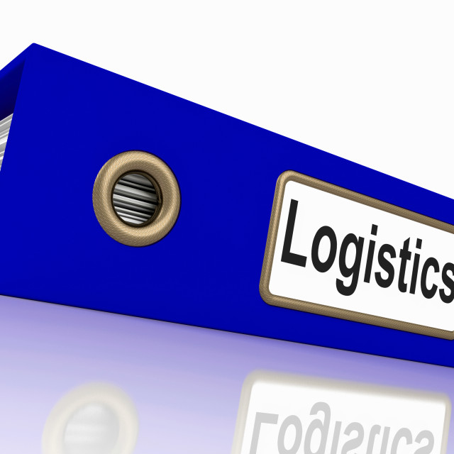 """""""Logistics File Shows Correspondence Folders And Systematic"""" stock image"""