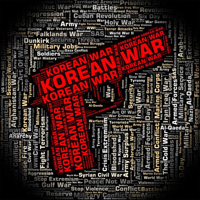 """Korean War Shows Pusan Perimeter And Bloodshed"" stock image"