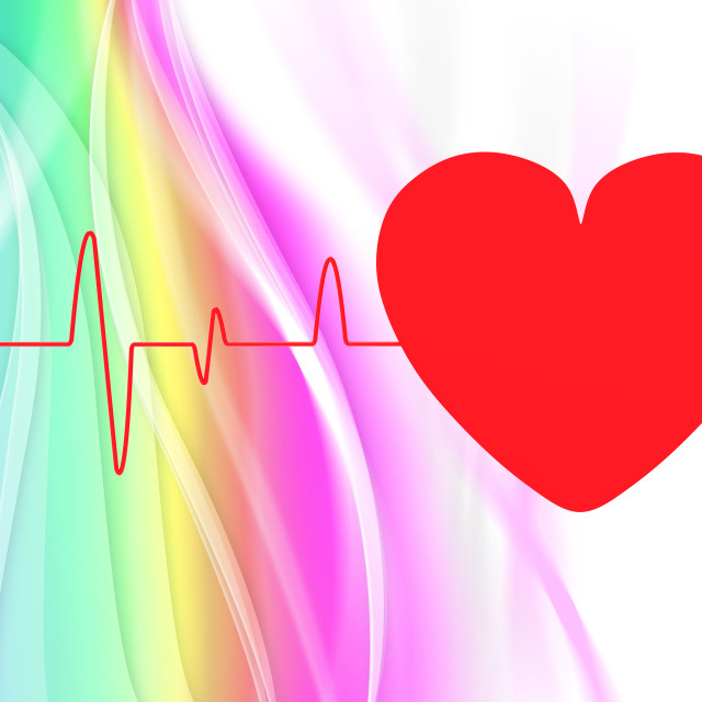 """Heart Pulse Means Empty Space And Cardiogram"" stock image"