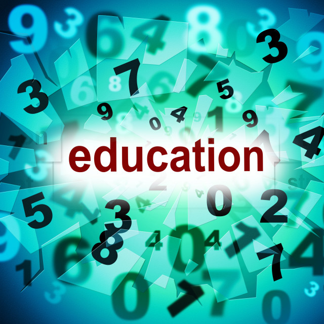 """Education Educate Means Schooling Training And Develop"" stock image"
