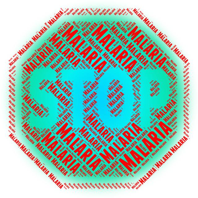 """Stop Malaria Shows Stops Disease And Malarial"" stock image"
