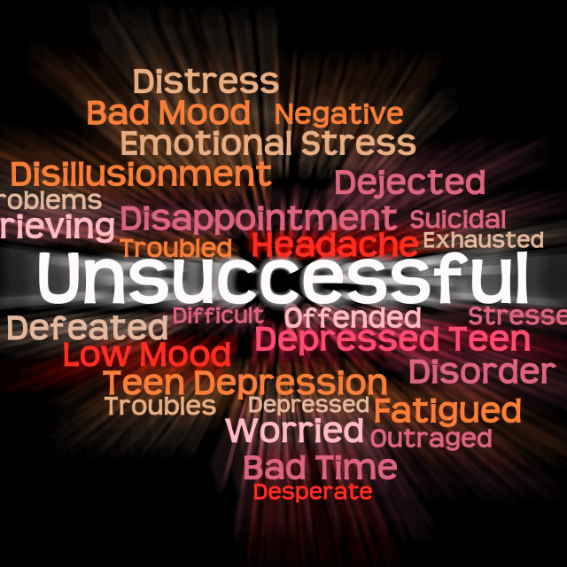 """""""Unsuccessful Word Shows In Vain And Abortive"""" stock image"""