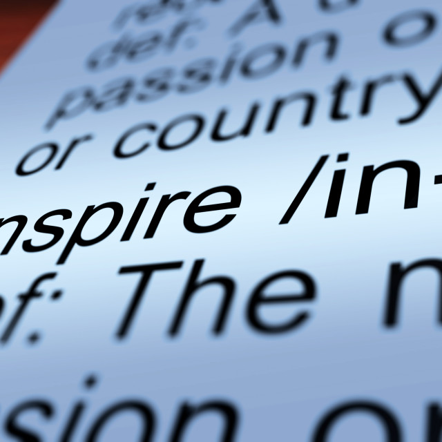 """Inspire Definition Closeup Showing Encouragement"" stock image"