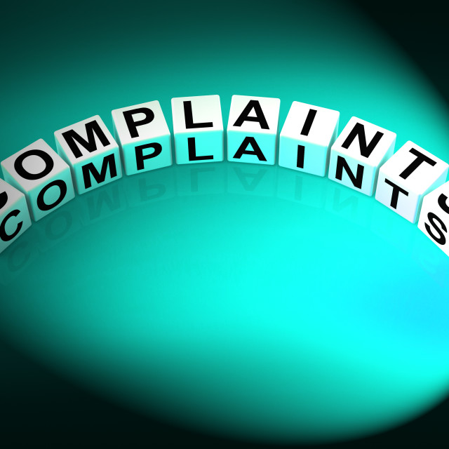 """""""Complaints Letters Means Dissatisfied Angry And Criticism"""" stock image"""