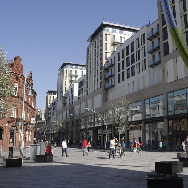 """""""The Hayes Cardiff"""" stock image"""