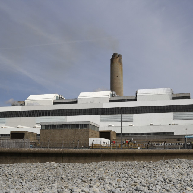 """""""Abberthaw Power Station"""" stock image"""