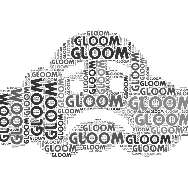 """Gloom Word Indicates Wordclouds Woe And Wordcloud"" stock image"