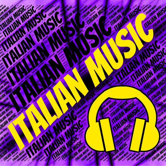 """Italian Music Indicates Sound Track And Audio"" stock image"