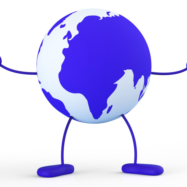 """Character World Means Earth Globally And Worldly"" stock image"