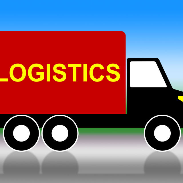 """""""Delivery Truck Means Coordinate Courier And Organized"""" stock image"""