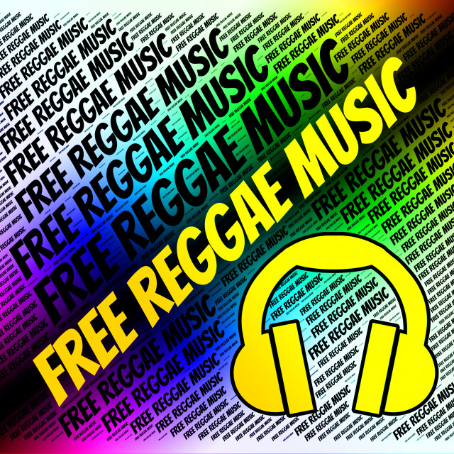 """Free Reggae Music Shows No Cost And Audio"" stock image"