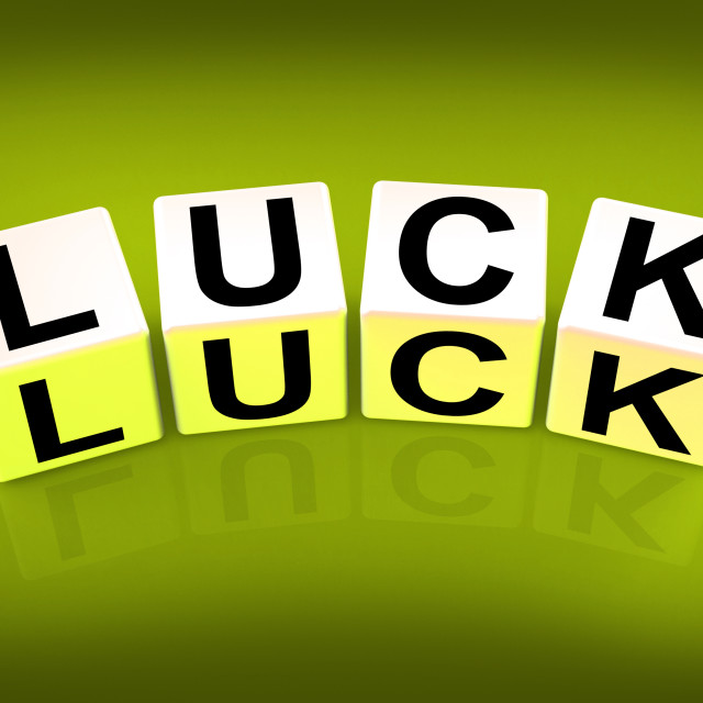 """""""Luck Blocks Refer to Fortune Destiny or Luckiness"""" stock image"""