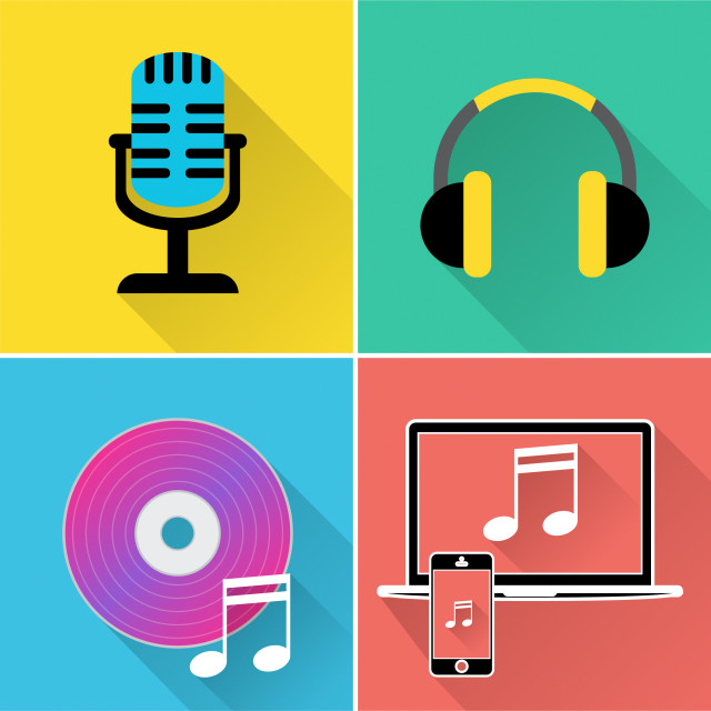 """""""Music Icons Represents Symbol Melody And Track"""" stock image"""