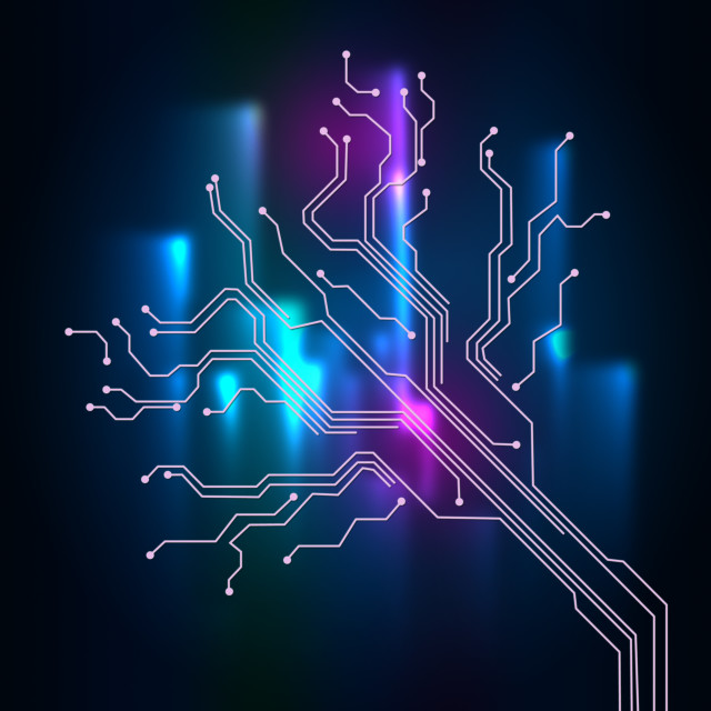 """""""Contact Links Background Meaning Connectivity And Circuit Wires."""" stock image"""