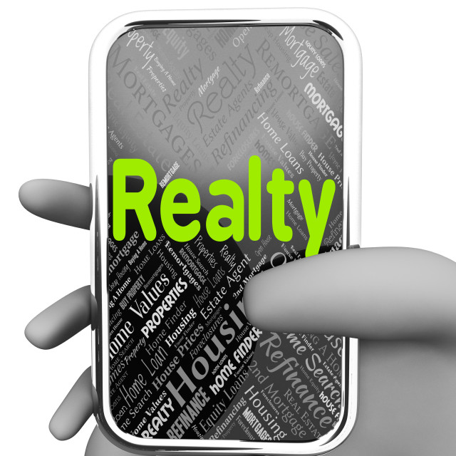 """""""Realty Online Represents Property Market And Buy"""" stock image"""