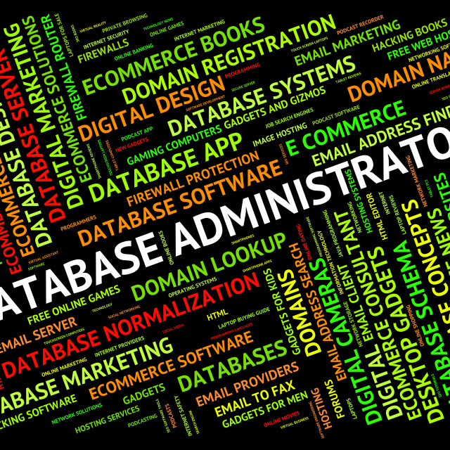 """""""Database Administrator Means Supervisor Chief And Manager"""" stock image"""