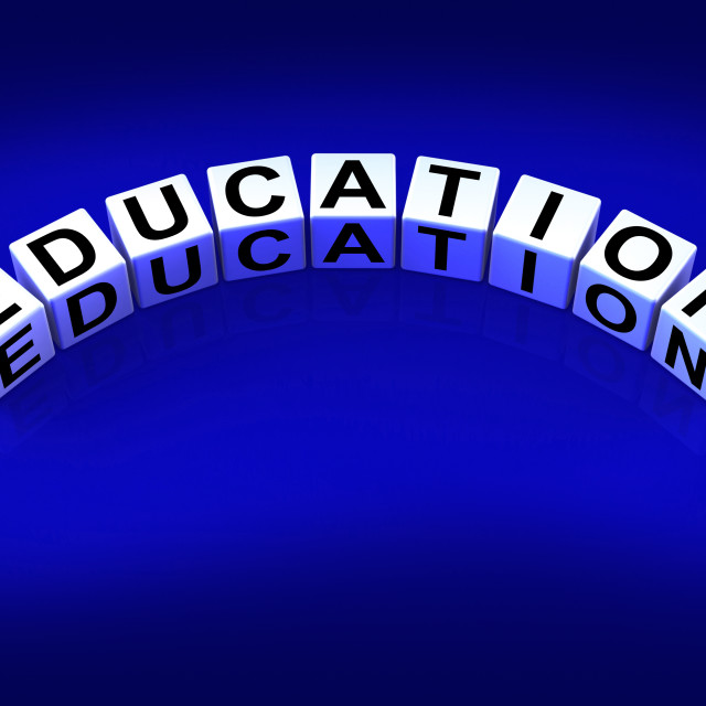 """Education Blocks Represent Training and Learning to Educate"" stock image"