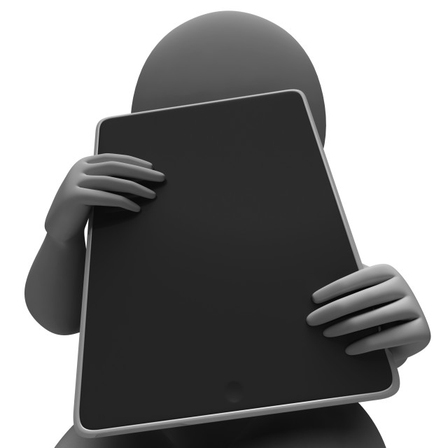 """""""Tablet Computer Showing Touchpad Multimedia"""" stock image"""