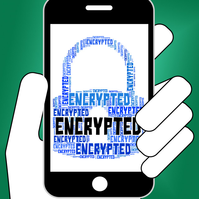 """Encrypted Word Means Encryption Words And Password"" stock image"
