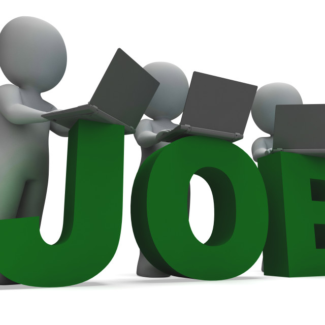 """""""Job Online Showing Web Employment Search"""" stock image"""