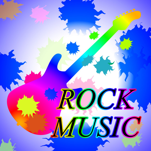 """""""Rock Music Shows Track Soundtrack And Popular"""" stock image"""