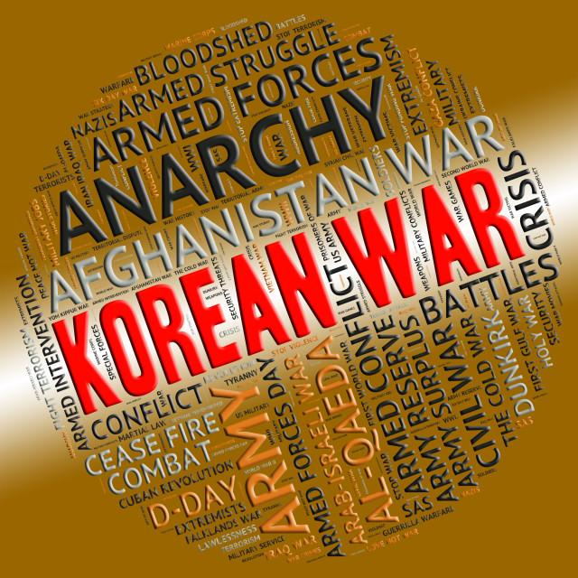 """""""Korean War Shows Pusan Perimeter And Battle"""" stock image"""