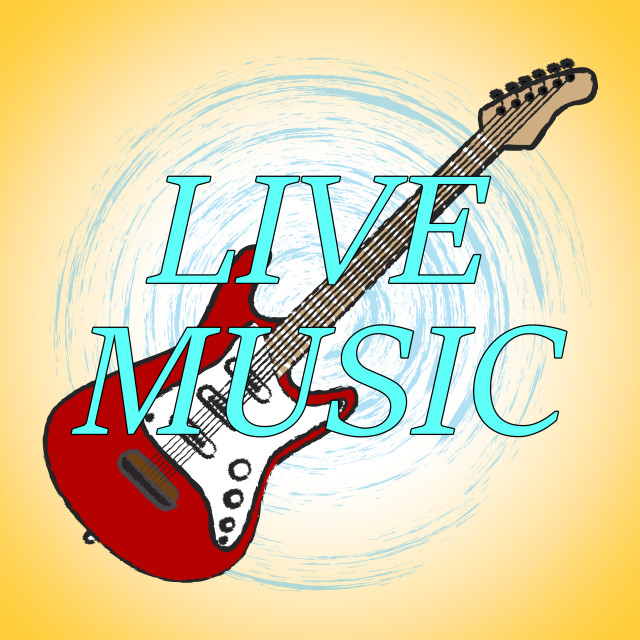 """""""Live Music Represents Sound Track And Audio"""" stock image"""