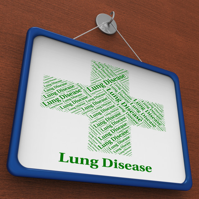 """""""Lung Disease Shows Poor Health And Affliction"""" stock image"""