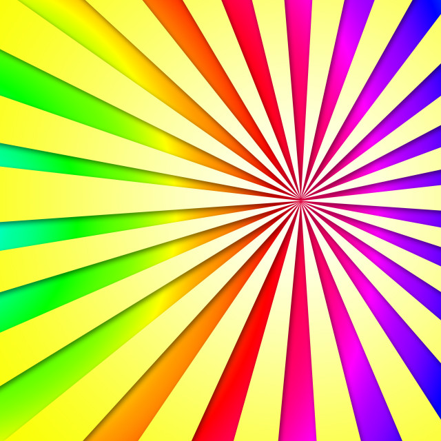 """""""Colourful Dizzy Striped Tunnel Background Shows Dizzy Illustration Or..."""" stock image"""
