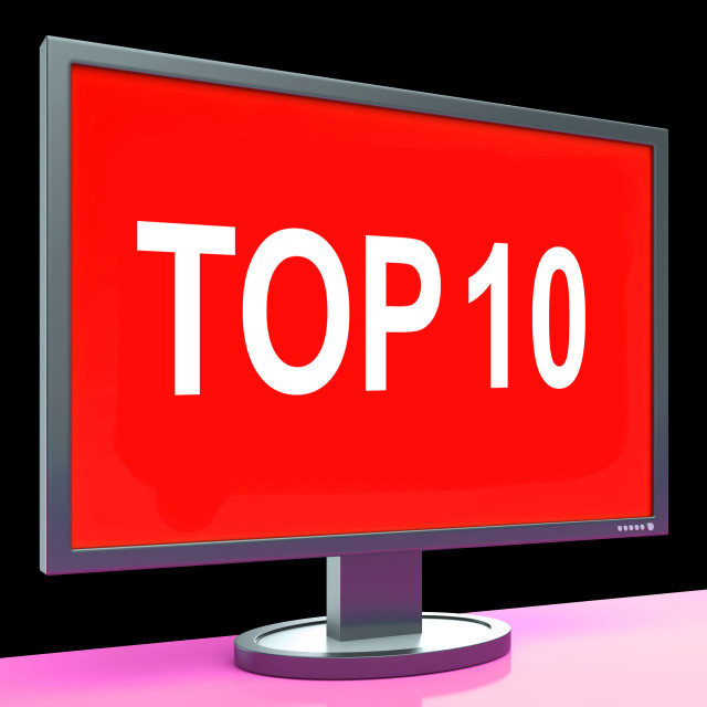 """""""Top Ten Screen Shows Best Ranking Or Rating"""" stock image"""