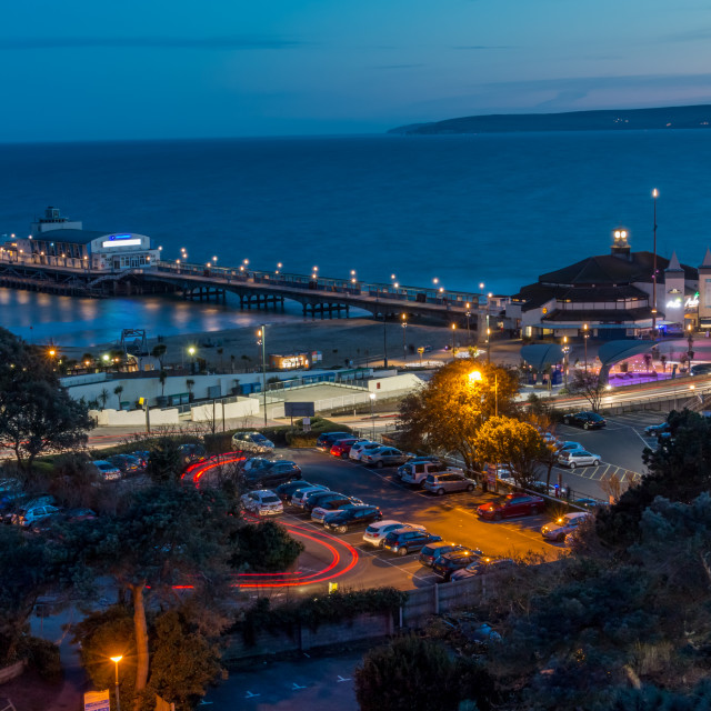 """Bournemouth Pier at Hight"" stock image"