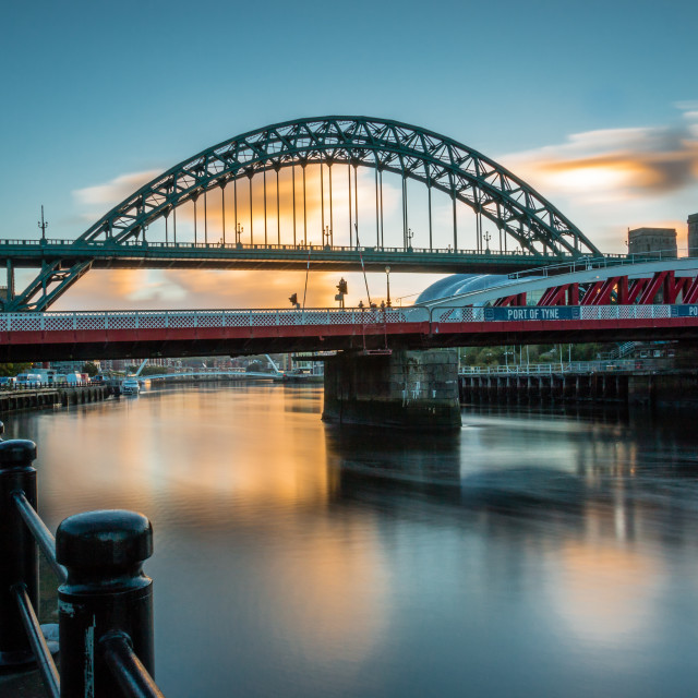 """Tyne Sunrise"" stock image"