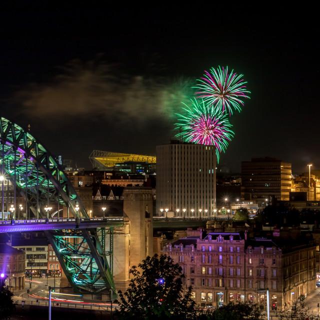 """Tyne Fireworks"" stock image"