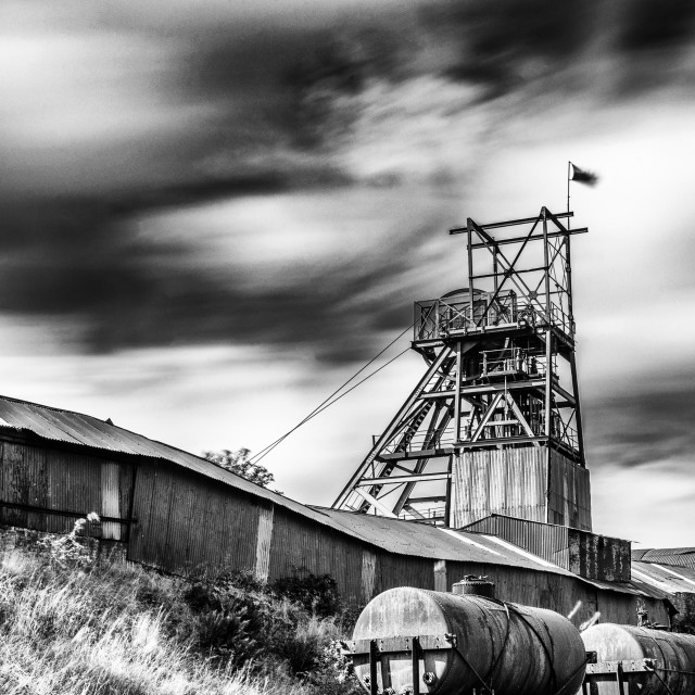 """Thirty Seconds At Big Pit Mono"" stock image"