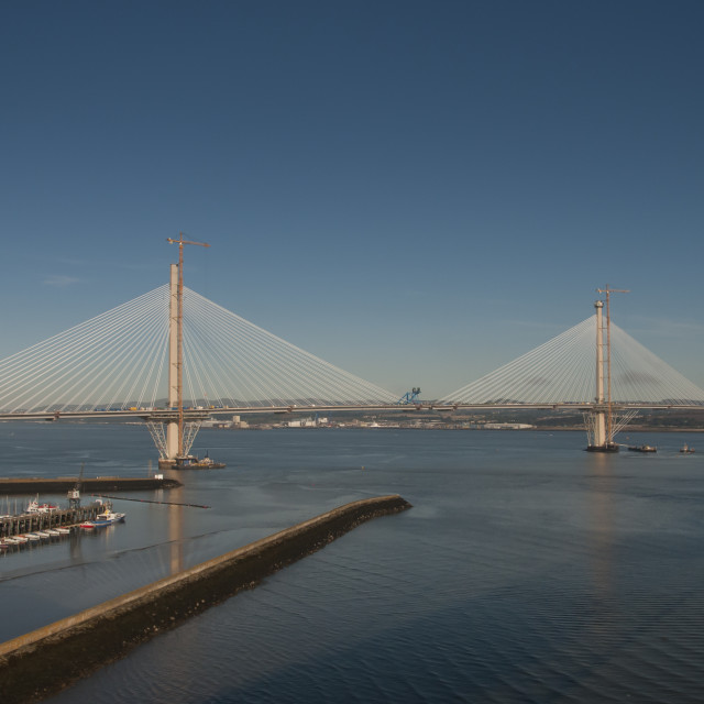 """Queensferry Crossing"" stock image"
