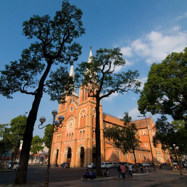 """""""Saigon Notre-Dame Basilica in Ho Chi Minh City, Vietnam"""" stock image"""